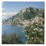 Italia, Campania, península de Sorrentine, Positan Azulejo Cuadrado Grande