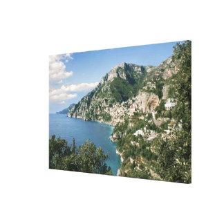 Italia, Campania, península de Sorrentine, Positan Impresiones En Lona Estiradas