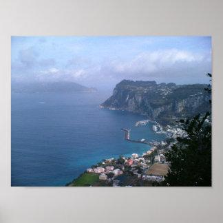 Italia - Capri hacia Sorrento Posters