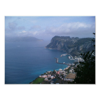 Italia - Capri hacia Sorrento Póster