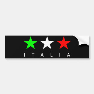 Italia Car Bumper Sticker
