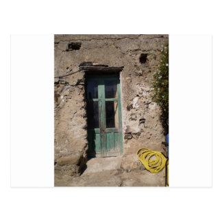 Italia casera vieja tarjeta postal