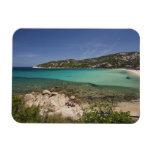 Italia, Cerdeña, Baja Cerdeña. Playa del centro tu Imán Rectangular