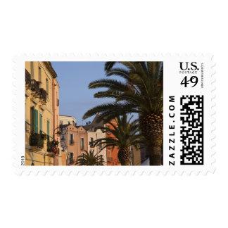 Italia, Cerdeña, Cagliari. Edificios y palmas Timbres Postales