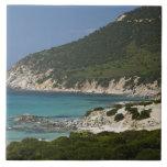 Italia, Cerdeña, Solanas. Playa Azulejo Cuadrado Grande