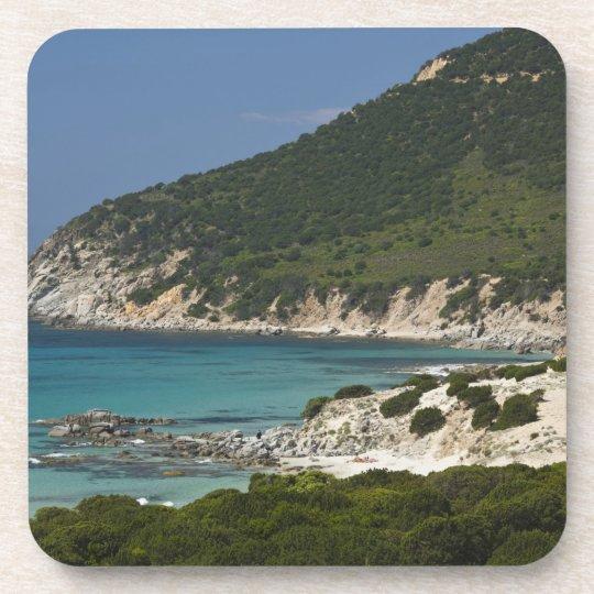 Italia, Cerdeña, Solanas. Playa Posavasos De Bebida