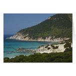 Italia, Cerdeña, Solanas. Playa Tarjeta De Felicitación