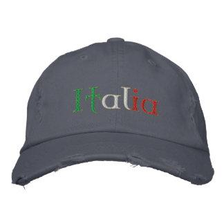 Italia Chino distressed Chino cap Embroidered Hats