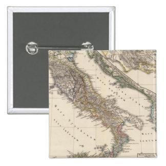 Italia, cisalpina de Gallia, Sicilia, Cerdeña Pin Cuadrada 5 Cm
