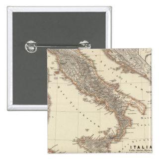 Italia, citerior de Gallia, Illyricum, Sicilia Pin Cuadrada 5 Cm