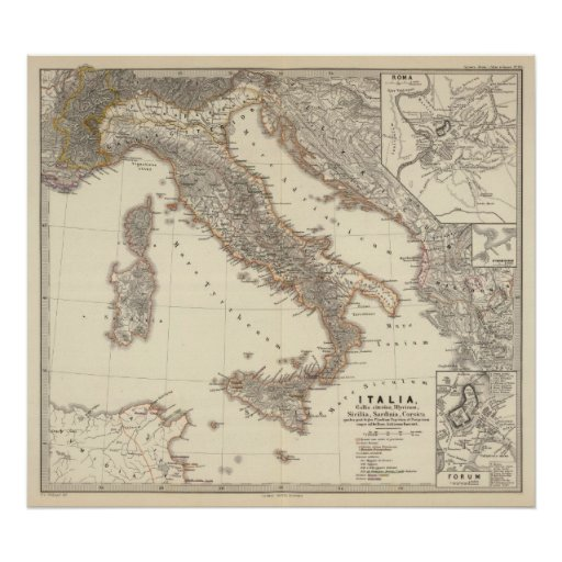 Italia, citerior de Gallia, Illyricum, Sicilia Póster