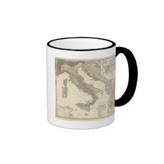 Italia, citerior de Gallia, Illyricum, Sicilia Taza A Dos Colores