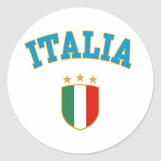 Italia Classic Round Sticker