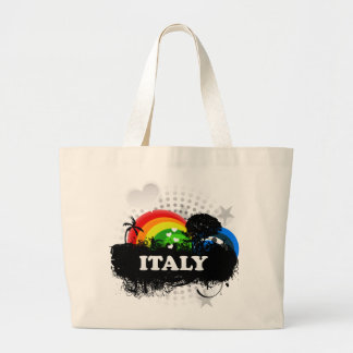 Italia con sabor a fruta linda bolsa tela grande