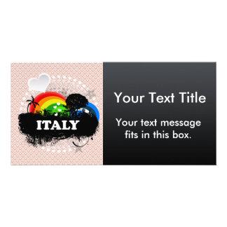 Italia con sabor a fruta linda tarjeta personal con foto