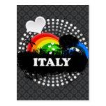 Italia con sabor a fruta linda tarjeta postal
