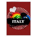 Italia con sabor a fruta linda tarjetas
