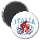 Italia Cycling (female) 2 Inch Round Magnet