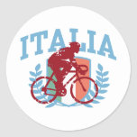 Italia Cycling (male) Classic Round Sticker