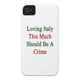 Italia de amor esta mucho debe ser un crimen iPhone 4 Case-Mate coberturas