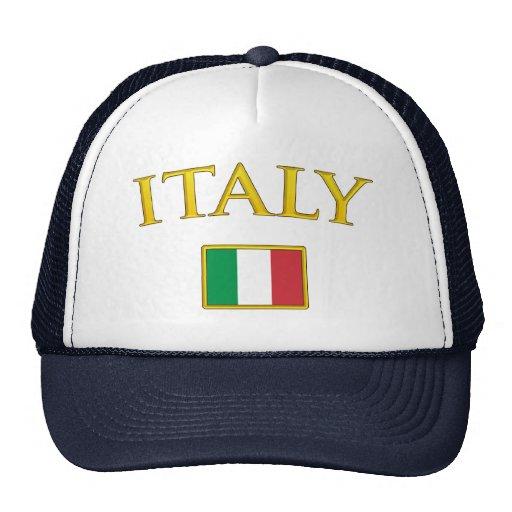 Italia de oro gorras