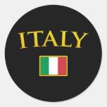 Italia de oro pegatina redonda