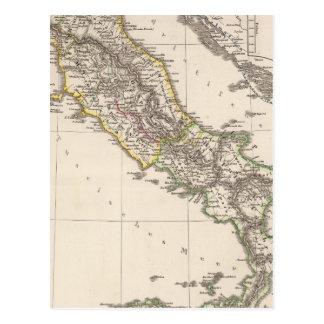 Italia debajo del sajón tarjeta postal