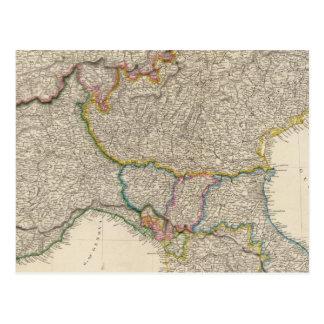 Italia del norte con Cerdeña Postal