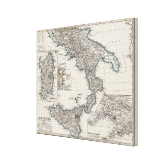 Italia del sur 2 impresiones en lona estiradas