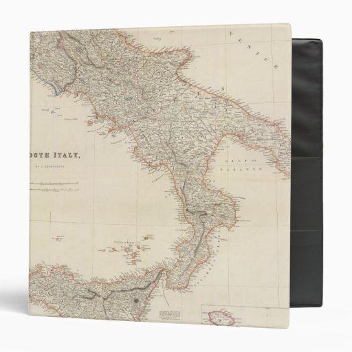 """Italia del sur con las islas maltesas carpeta 1 1/2"""""""