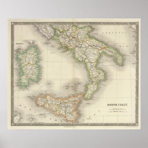 Italia del sur póster