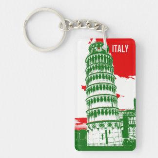 Italia el | la torre inclinada de Pisa Llavero Rectangular Acrílico A Una Cara