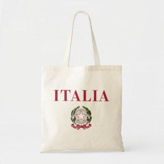 Italia + Emblema de Italia Bolsas