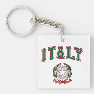 Italia + Emblema de Italia Llaveros