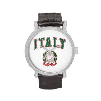 Italia + Emblema de Italia Reloj De Mano