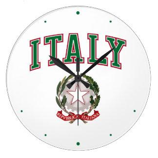 Italia + Emblema de Italia Reloj