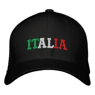 Italia Embroidered Baseball Cap