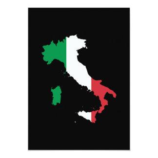 Italia en colores de la bandera invitación 12,7 x 17,8 cm