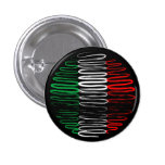 Italia en el botón negro pin