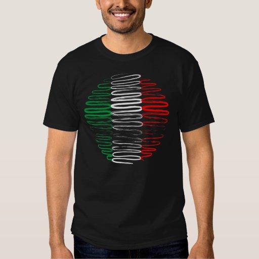 Italia en la camiseta negra playera