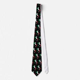 Italia en los colores italianos tejados corbatas