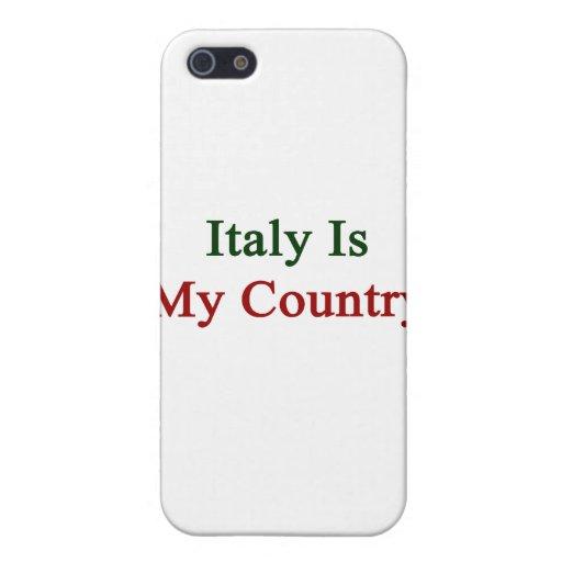Italia es mi país iPhone 5 carcasa