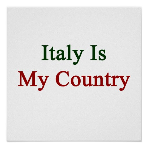Italia es mi país posters