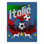 Italia fans calcio Azzurri Italy fla sports fan Print