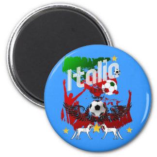 Italia fans calcio magnet featuring the Italy flag