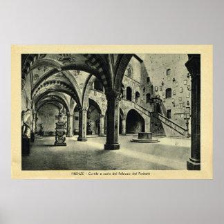 Italia, Firenze, Palazzo Podesia Posters