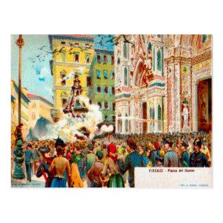 Italia, Firenze, Piazza del Duomo Postal