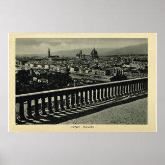 Italia, Firenze, Piazzale Miguel Ángel Póster