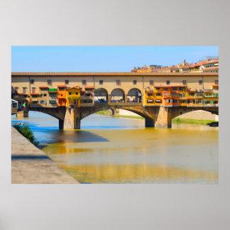 Italia, Firenze, Ponte Vecchio Póster