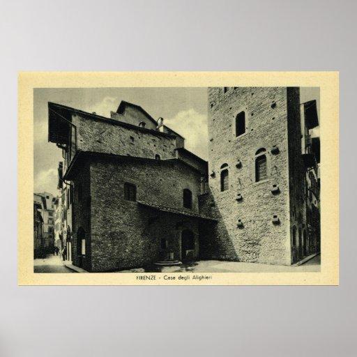 Italia, Firenze, tienda de delicatessen Alighieri  Póster